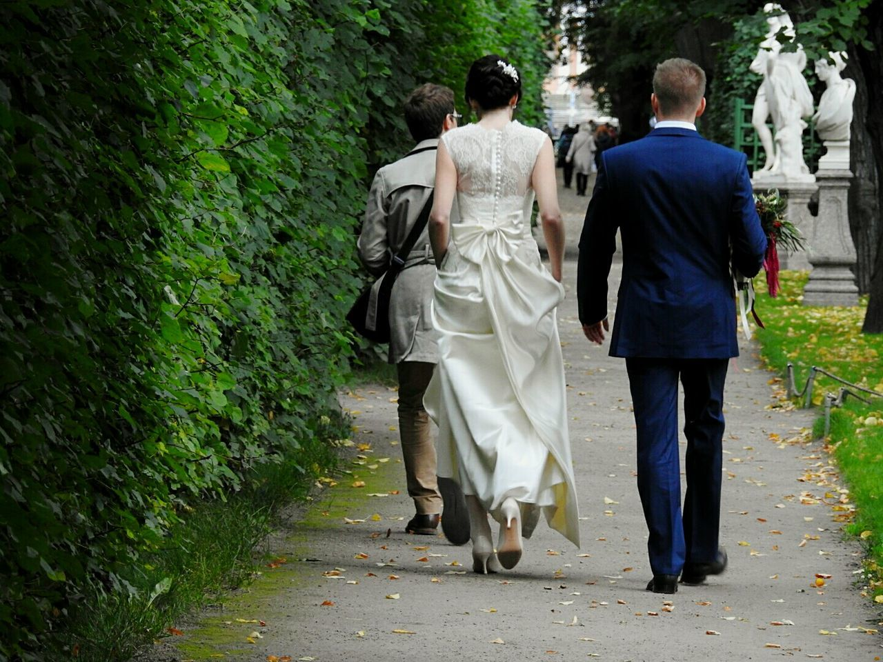 rear view, walking, full length, men, tree, togetherness, day, women, real people, outdoors, adult, people, adults only