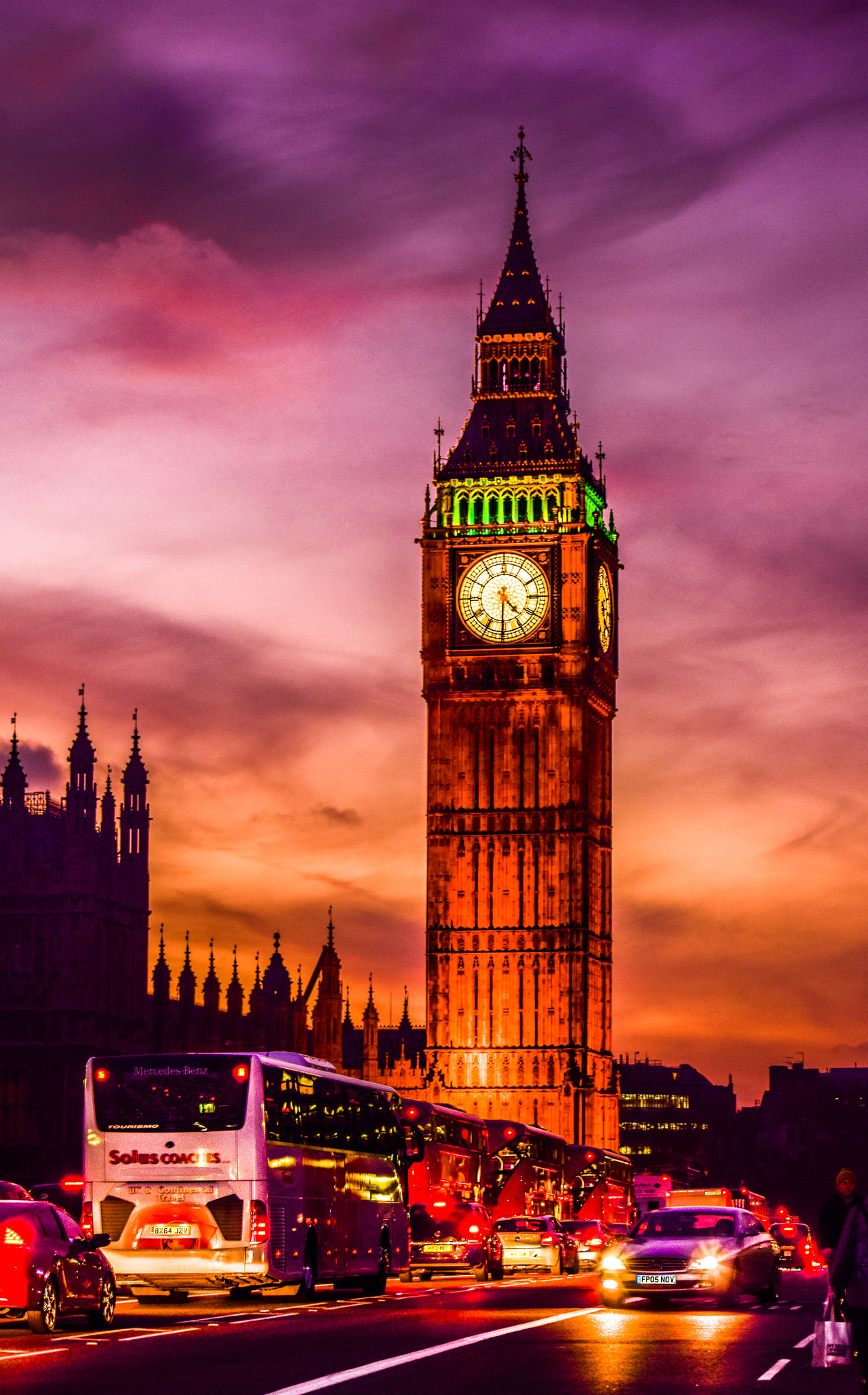 Architecture Big Ben Bridge - Man Made Structure City Cityscape Clock Cultures EyeEm Best Edits EyeEm Best Shots EyeEm Gallery History Illuminated Night No People Romantic Sky Tourism Tower Traffic Travel Destinations