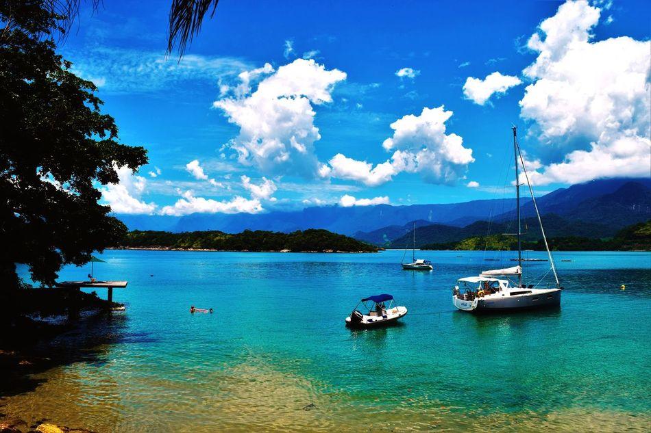 Brasil Sea, Mountain And Sky Ships Sunnyday Perfection First Eyeem Photo