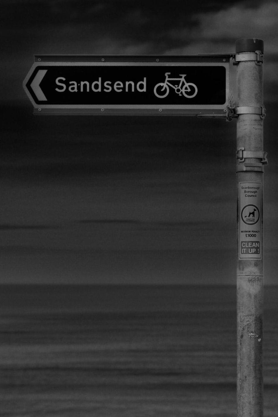 Sandsend Text Western Script Communication Guidance Capital Letter Information No People Warning Sign Safety Warning Road Sign Signboard Day Outdoors Close-up Street Name Sign Outdoor Photography Monochrome Photography Art Is Everywhere Landscape Built Structure