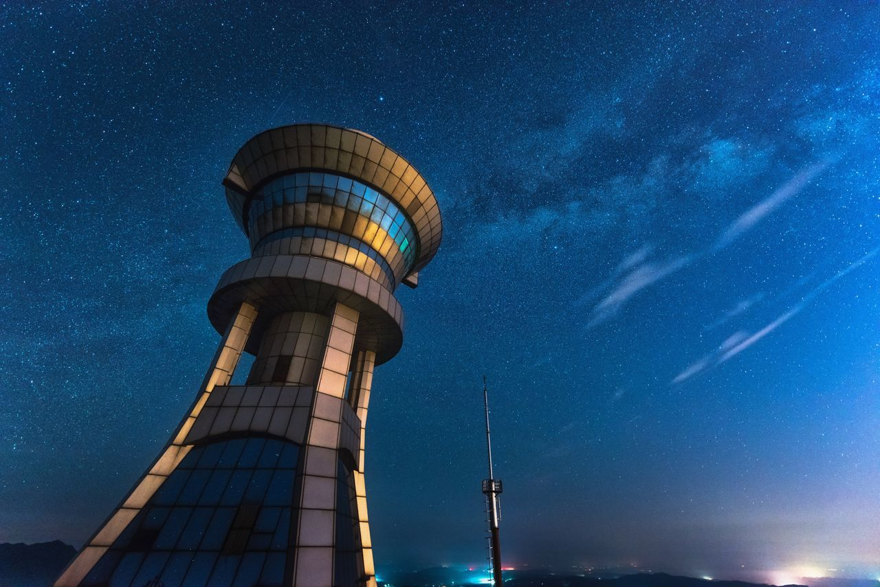 Heimifeng Park Astronomy Astrophotography Building Exterior Changsha China Galaxy Night Nightphotography Starry Sky Stars The Great Outdoors - 2017 EyeEm Awards Weather Photography