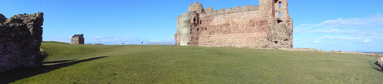 Black And White Tantallon Castle Framing Leading Lines Contrast Colour Scotland Outdoors History Landscape Panorama Castle