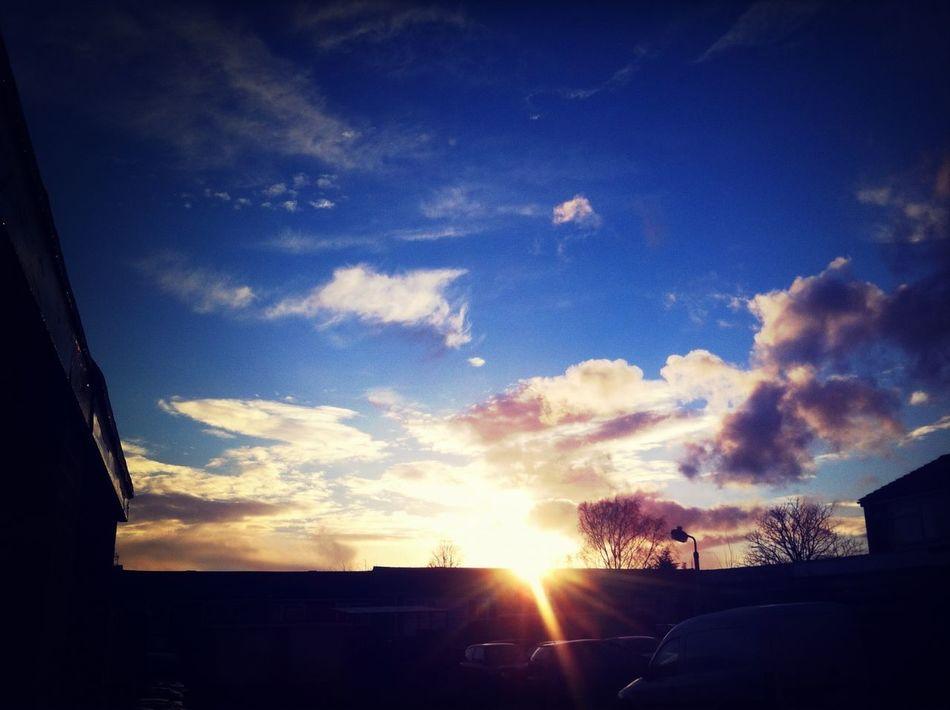 Beautiful sky outside of my house. I love the sky! :3