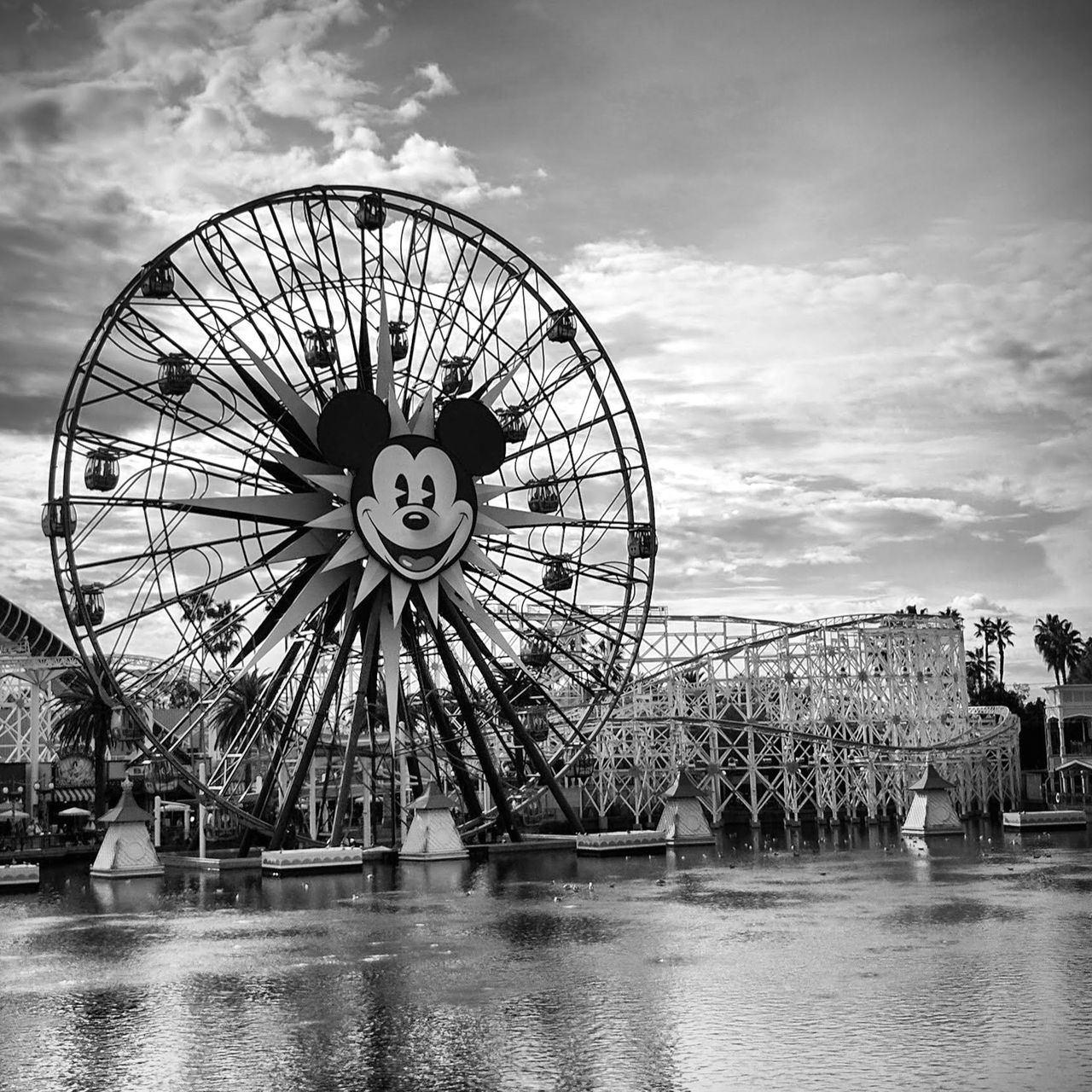 Ferris Wheel Sky Water Amusement Park Disneyland Mickey Mouse California Adventure Blackandwhite Black & White Bnw Monochrome Fortheloveofblackandwhite Black&white Pier Shotbypixel Android AndroidPhotography LiveanddirectfromLosAngeles