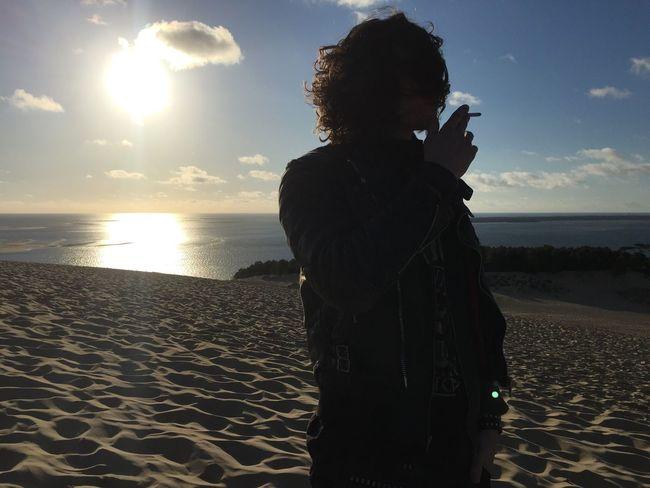 Nature France Freedom Filters Free Boy Badboy Smoking Sunset Sun Beach Dune