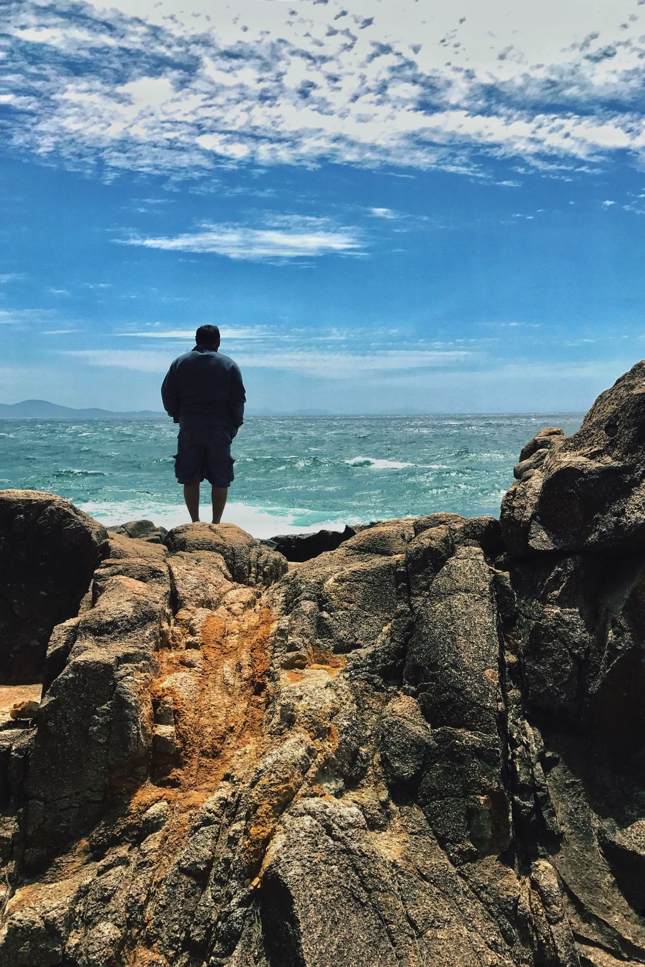 Sea Standing Horizon Over Water Tranquil Scene Rock - Object Men Remote Australia Solitude IPhone Photography IPhone Editing Tranquility Wave Coastline