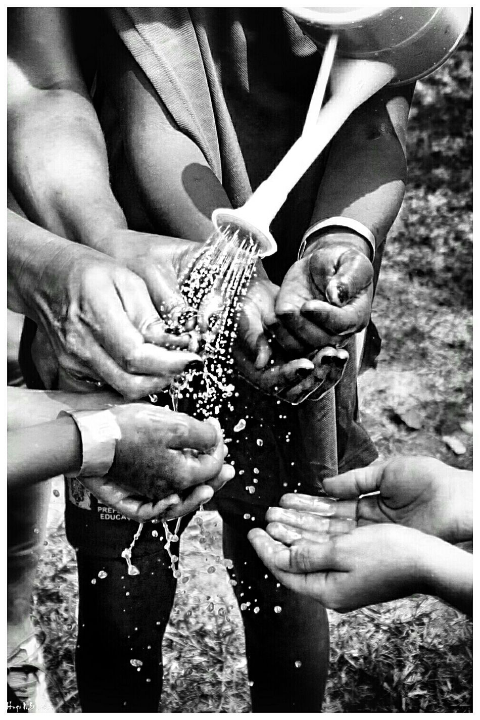 Human Hand Togetherness Social Photography Black & White Leisure Activity Black And White Children School Social Documentary School Life  Children Photography Freshness Cheerful People Close-up Happiness Light And Shadow Splashing Waterdrops Water_collection