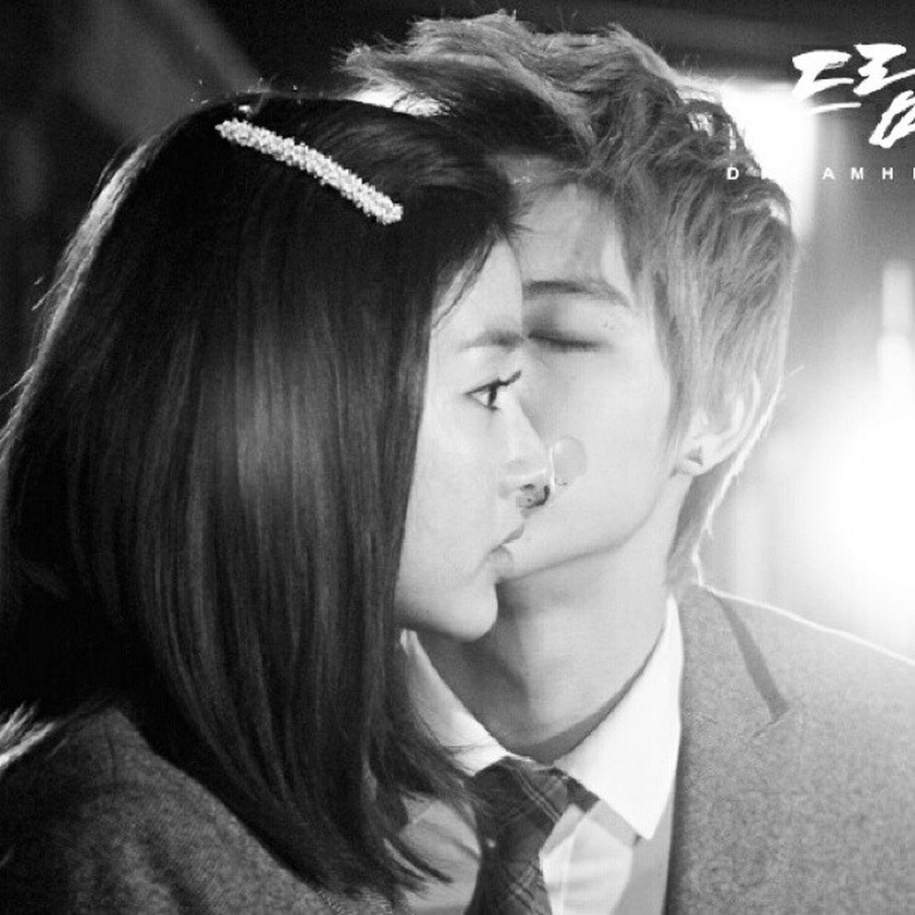 Kissing scene Kangsora Love Jaebum Rubikcouples dreamhigh2 kiligmuch sweet