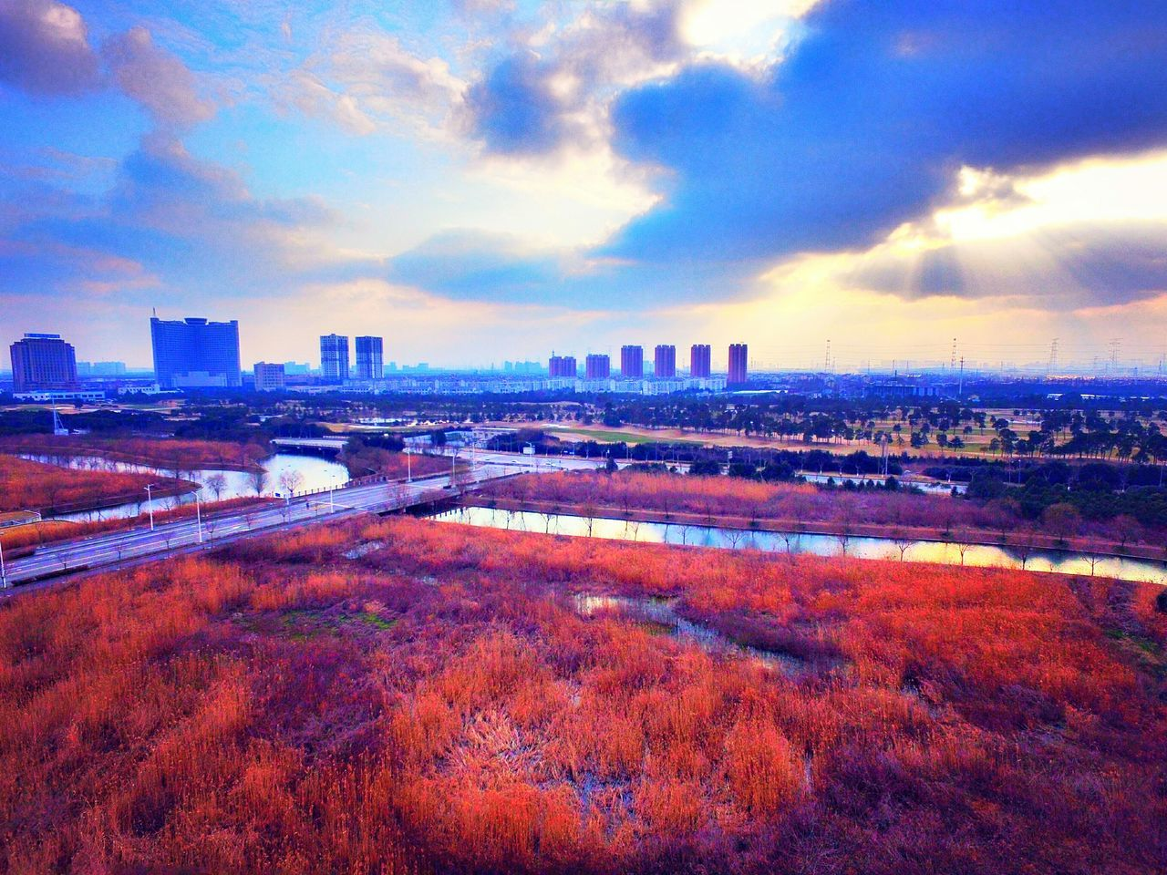 Effects Taking Photos Unmanned Aerial Vehicle Blue Sky Niceday Nice Atmosphere Nice View Horizon Ground Thickeyebrows Cheese! Upper Landscape_Collection Urbanlabdscape City Edge