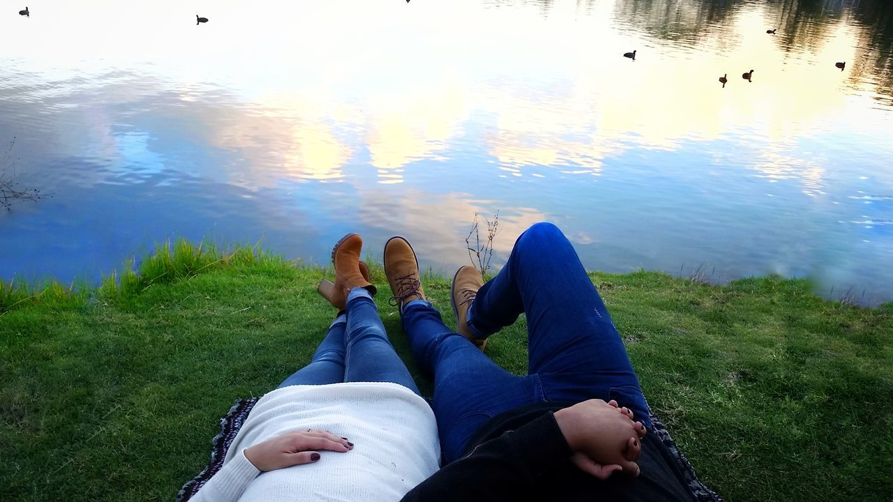 Relaxed Weekend! Water Blue Relaxation Two People Adults Only Lake People Young Women People Watching Girls Sky Portrait Girl Cloud Sunset Mexico City Colorsplash Today's Hot Look First Eyeem Photo Cdmx2016 EyeEm Best Shots EyeEm Gallery Eyem Best Shots Eyeemphoto Faces Of EyeEm