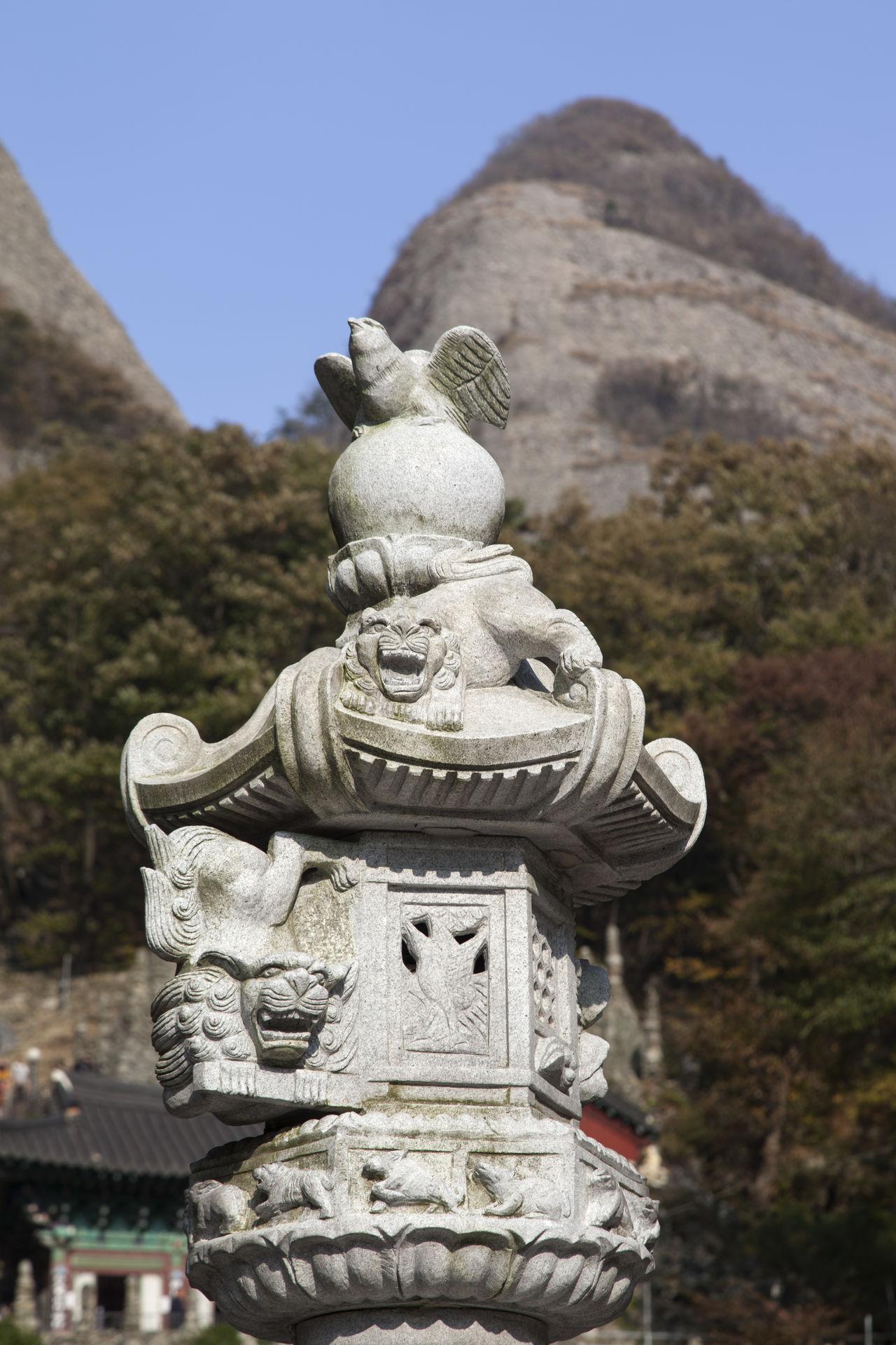 Tapsa, a Buddhism Temple in Maisan, Muan, Jeonbuk, South Korea Buddhism Close-up Day Maisan No People Outdoors Sculpture Sky Statue Tapsa Temple