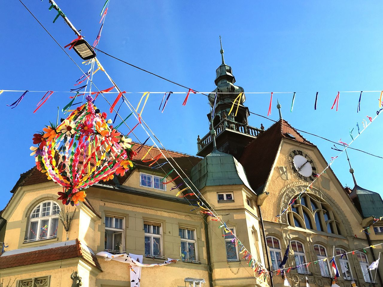 Colors Of Carnival Clock Historical Building Old Buildings Clock Tower Blue Sky
