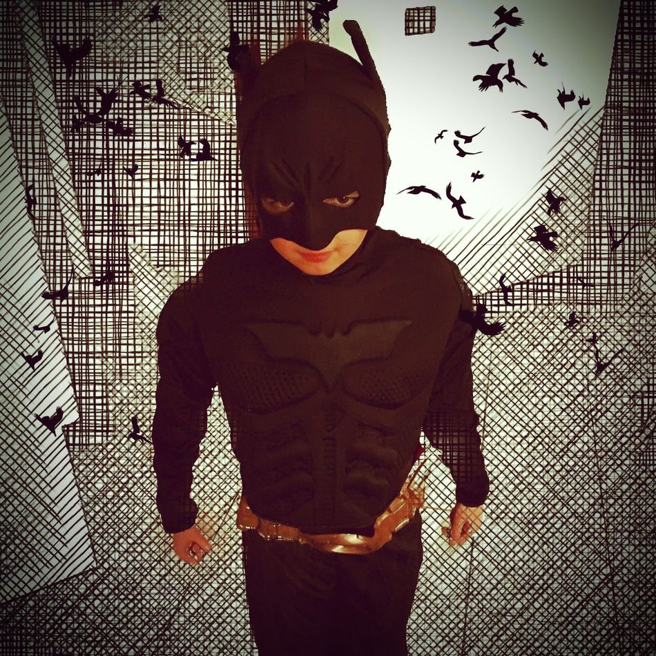 Break The Mold Young Adult Batman DC Comics Indoors  Standing Real People Silhouette One Person Day People Happy EyeEmNewHere Happiness Fans