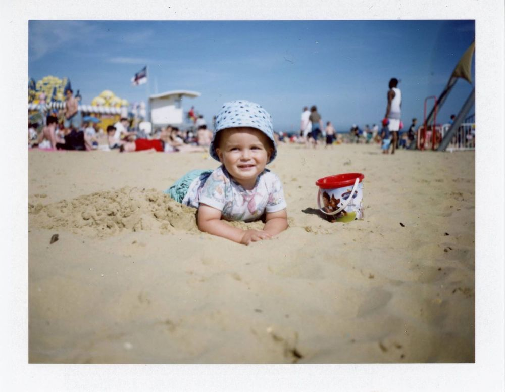 Sand Beach Childhood Cute Summer Polaroid Polaroid Land Camera 350 Polaroid Land Camera Automatic 350 Polaroid Automatic Land Camera 350 Happiness Bournemouth Fujifilm Fp-100c Analogue Photography Live For The Story