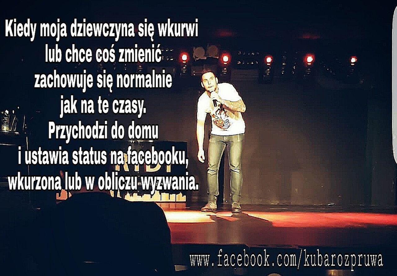 Zapraszam na profil FB Kuba Rozpruwa Gliwice Poland Facet Mężczyzna Katowice Standupcomedy śmieszne Rozrywka Na żywo Humor Komedia Komik Stand Up Facebook