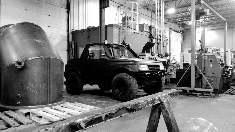 Offroad Tire Wheel 4x4 Mecanic Car Truck Tuning Restoration Steel Metal Machinery Suzuki Sidekick Machine Tool Workshop
