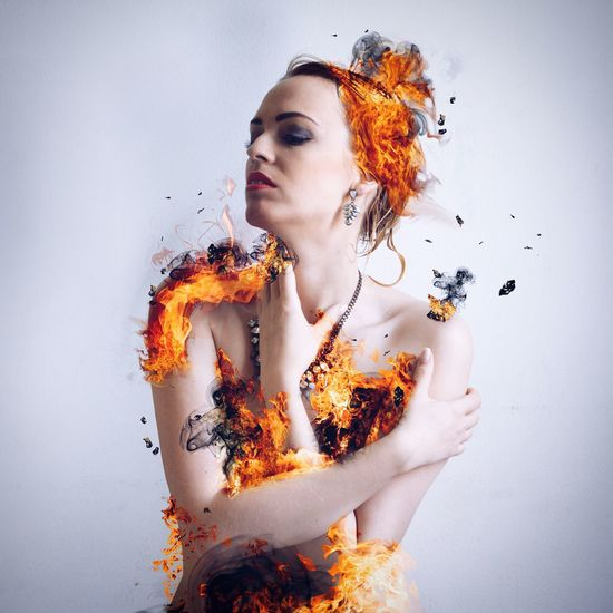 Girl is on fire Surreal_manipulation Surrealist Art Surrealism Surreal Photoshop Photomanipulation Sexygirl Fire