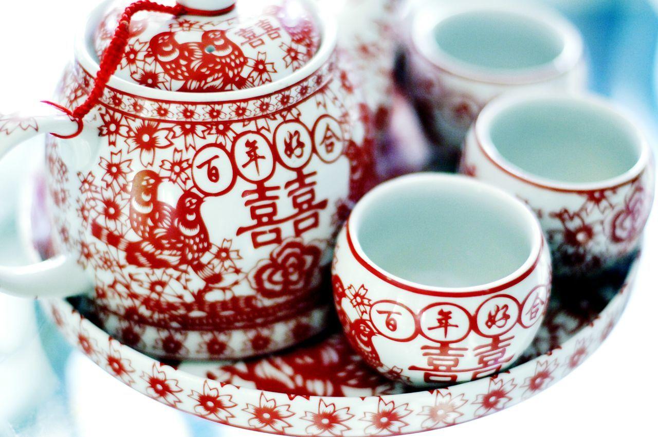 Weddings Around The World Canadian Chinese Wedding Tea Ceremony Tea Pot Double Happiness 百年好合