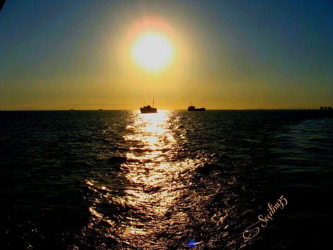 Uzaklar... Nature Makes Me Smile Seascape Sky_collection Sun_collection Nature_collection EyeEm Nature Lover Sunset