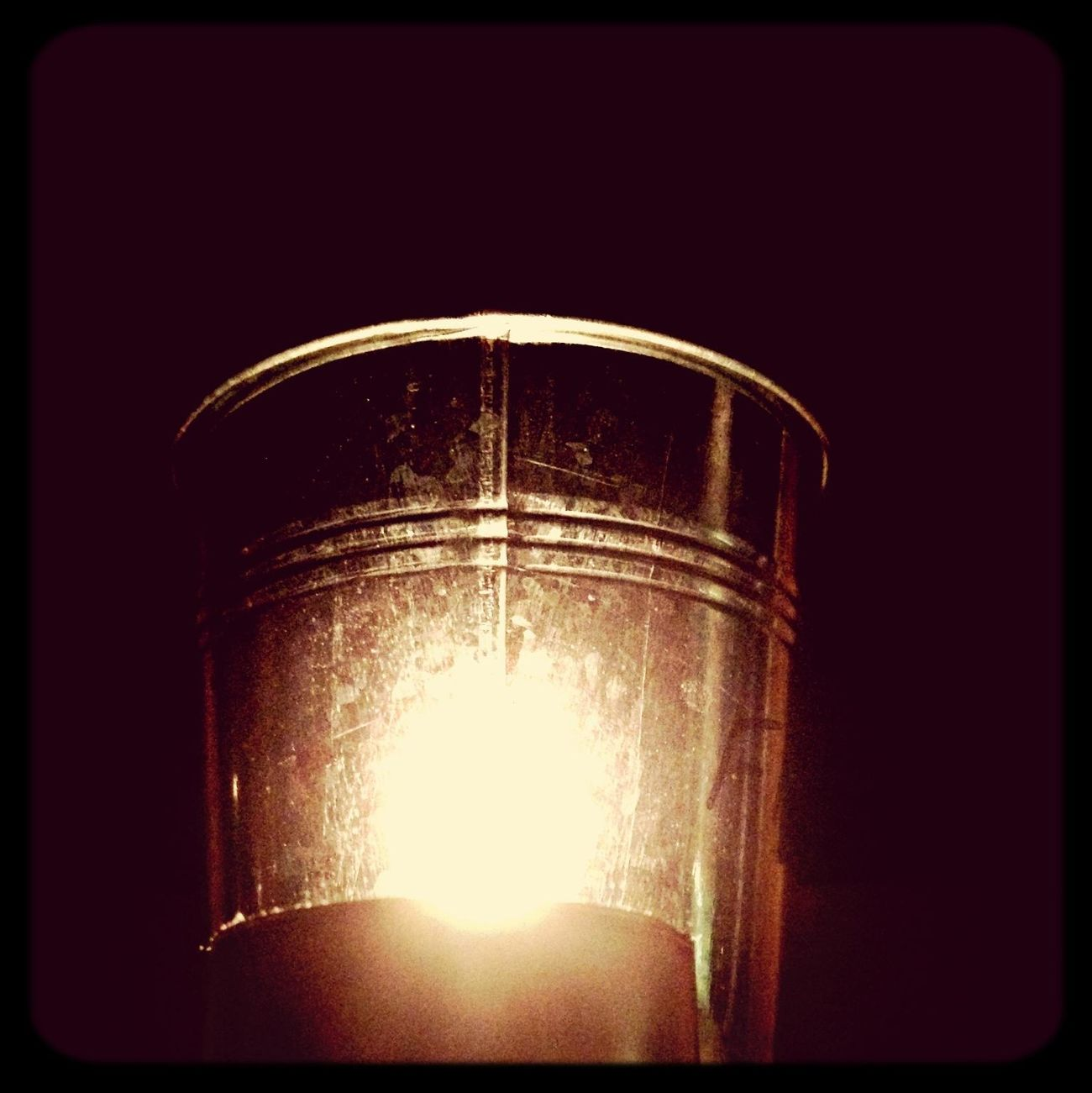 mirror, tea candle and a potted cactus. it's fun to play in the shadows at night