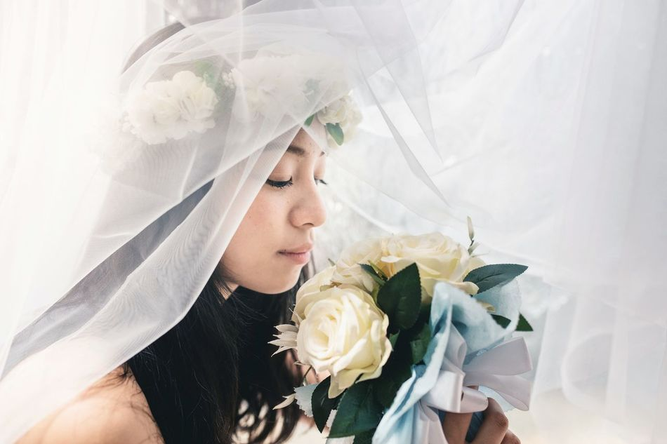 Beautiful stock photos of wedding, 18-19 Years, Beauty In Nature, Black Hair, Bouquet