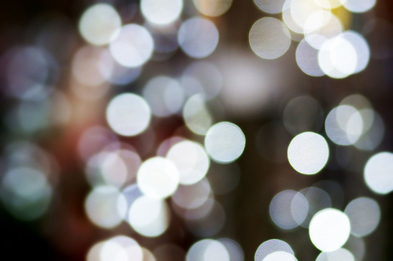 Full Frame Shot Of Defocused Lights At Night