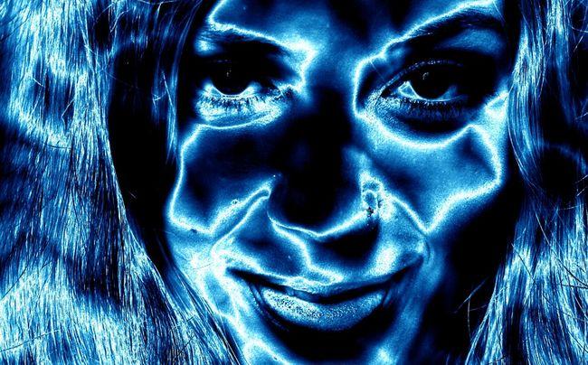 Artistic portrait Human Face Close-up Futuristic Portrait Monochrome Monochrome Photography Portrait Photography Beauty Beautiful Woman Beautiful People Eye Artistic Artistic Photo Artistic Expression