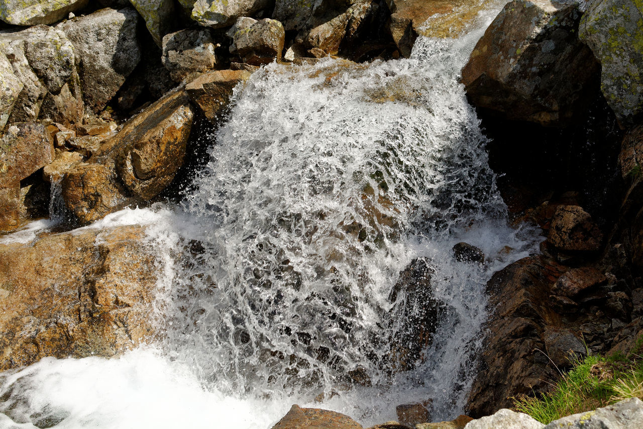 Beauty In Nature Close-up Day High Angle View Motion Mountain Stream Nature No People Outdoors Polish Tatra National Park Spring In The Mountains Tatry Poland Tranquility Water Zmarzly Staw Tatra Poland