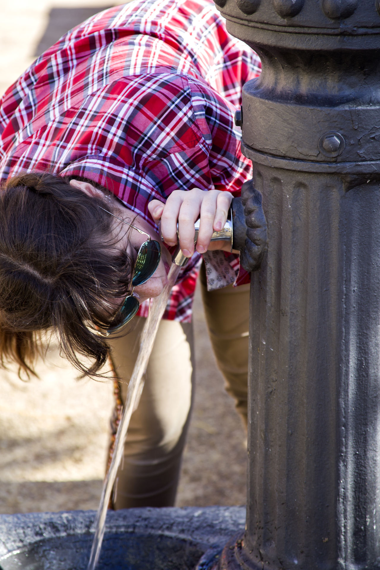Drinking Drinking Water Drinking Water Fountain Flowing Water Girl Human Body Part One Person Outdoors People Refreshment Teenager Thirsty  Water Women Around The World