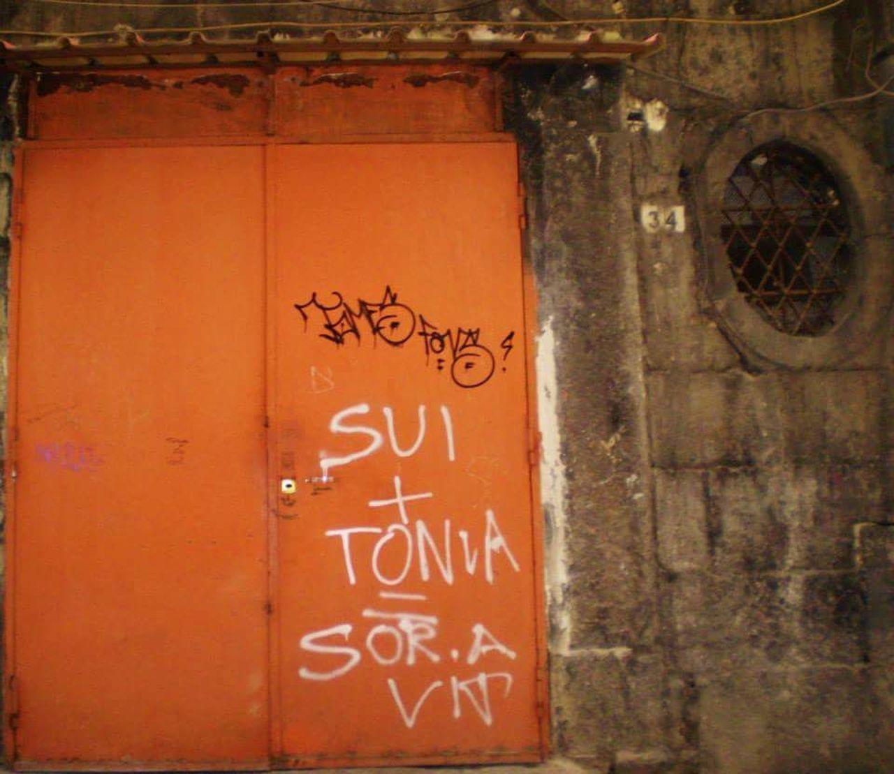 Napoli Napoli Street Napoli Italy Naples, Italy Door Orange Orangedoor Graffiti Window
