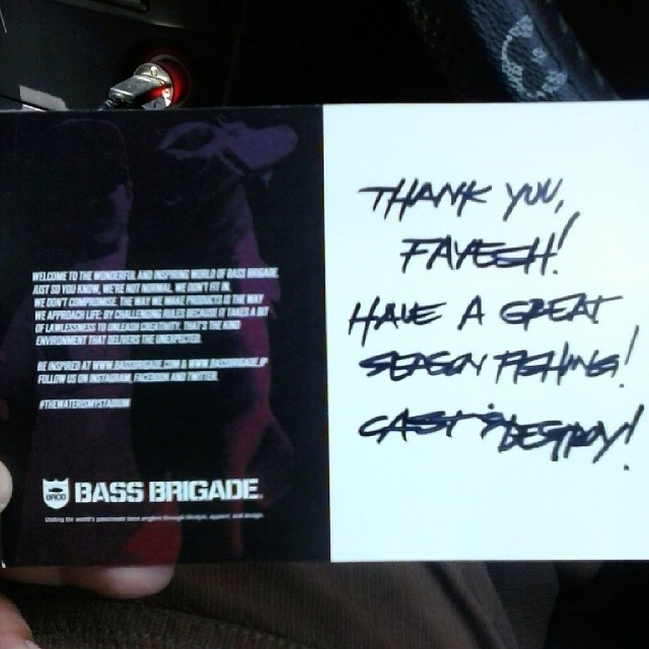 finally my item with me. thanks @bassbrigade Bassbrigade Castanddestroy Seekanddeploy