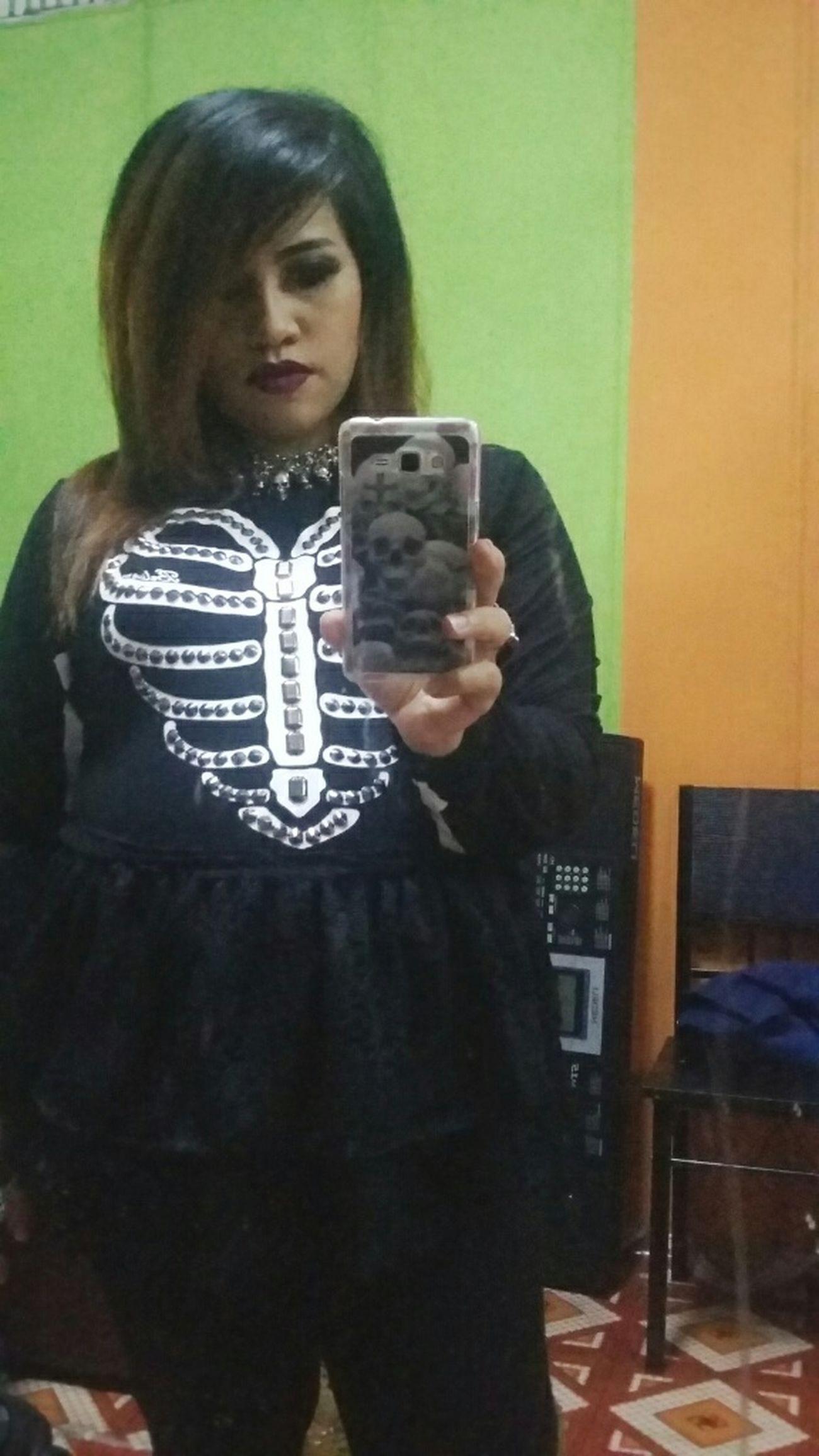 Skull Taking Photos That's Me Selfie Self Portrait Sue_nandar_htet Diva_sndh