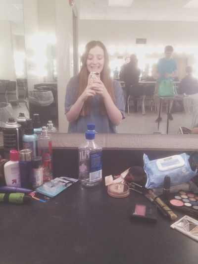 its gameday boys!!! Theatre Show Week Makeup Hair Love Yay Nervous Hello World Taking Photos Live From Norman North