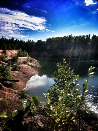 Spring Blue Water Nature Greenery Cliffs Swimming Hole Diving Countryside ReflectionSummertime Tranquility Memories Calm Water Sun Rays
