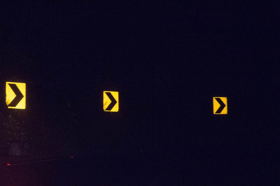 Dark Illuminated Information Night Symbol To The Right Traffic First Eyeem Photo