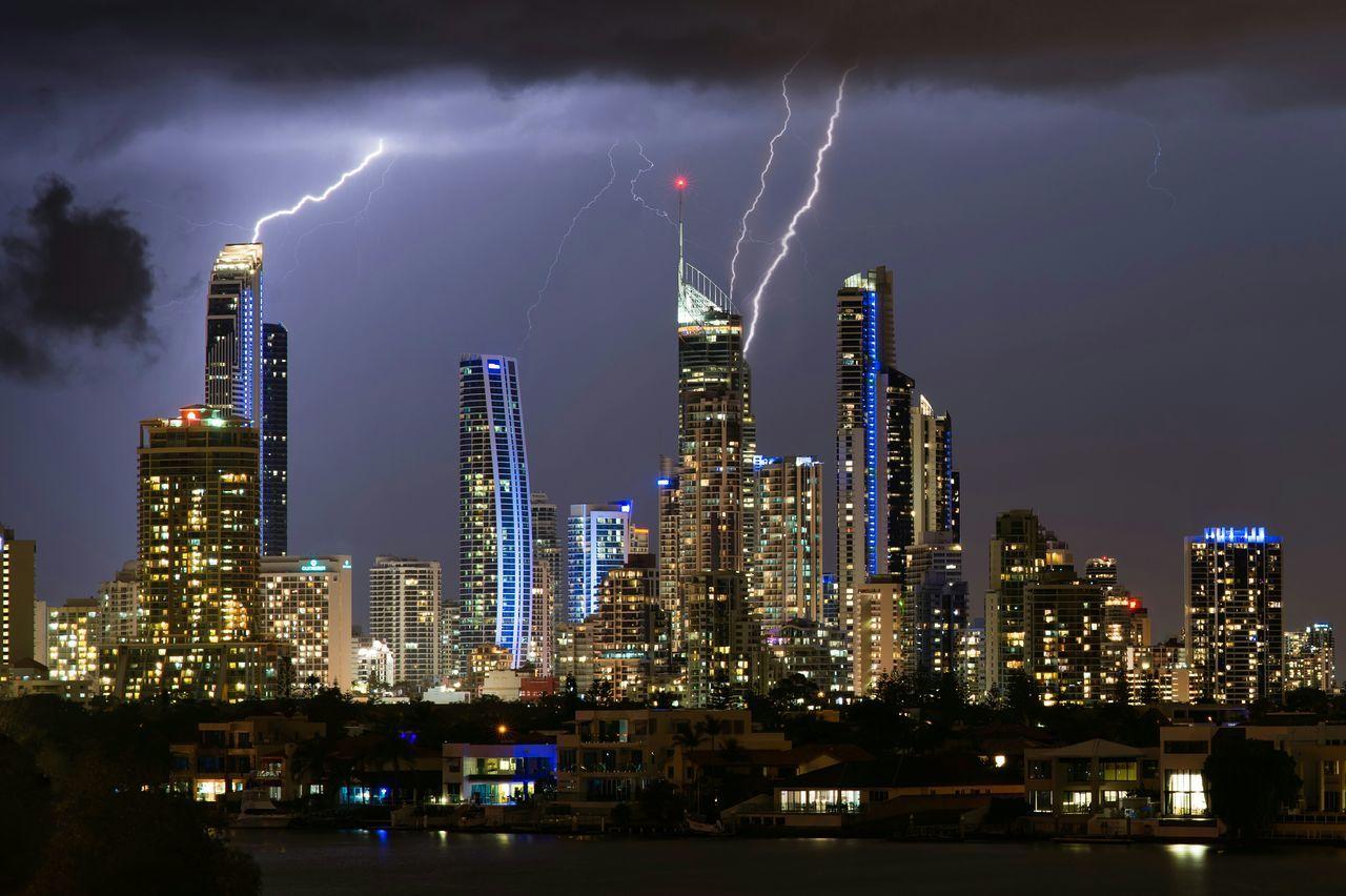 Beautiful stock photos of lightning, Architecture, Building, Building Exterior, Built Structure