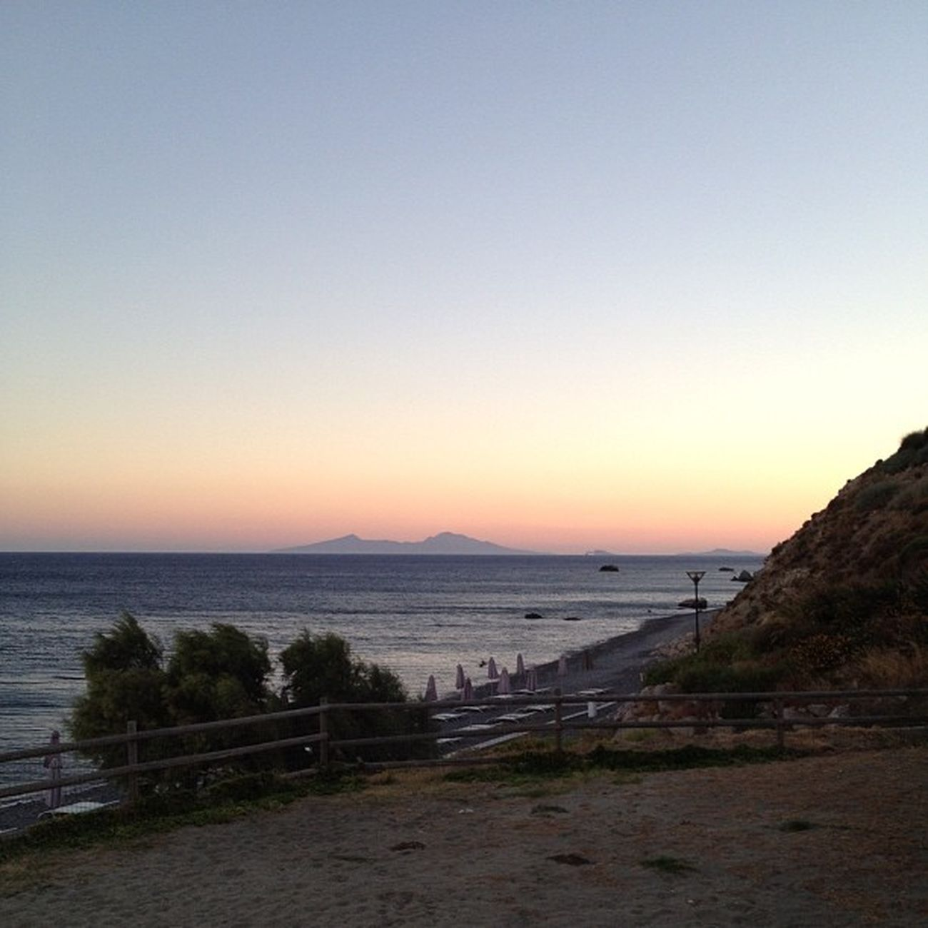 Greece Kos Agiosfokas Sea beach sunset skyline trees beach paradise meer water sky blue stones cool nice wonderful holiday