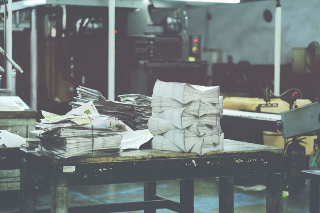Hoang Ann Newspaper Old Factory Old Style On The Table Print Printing Saigon Simple Things Thanh Nien Newspaper Vietnam