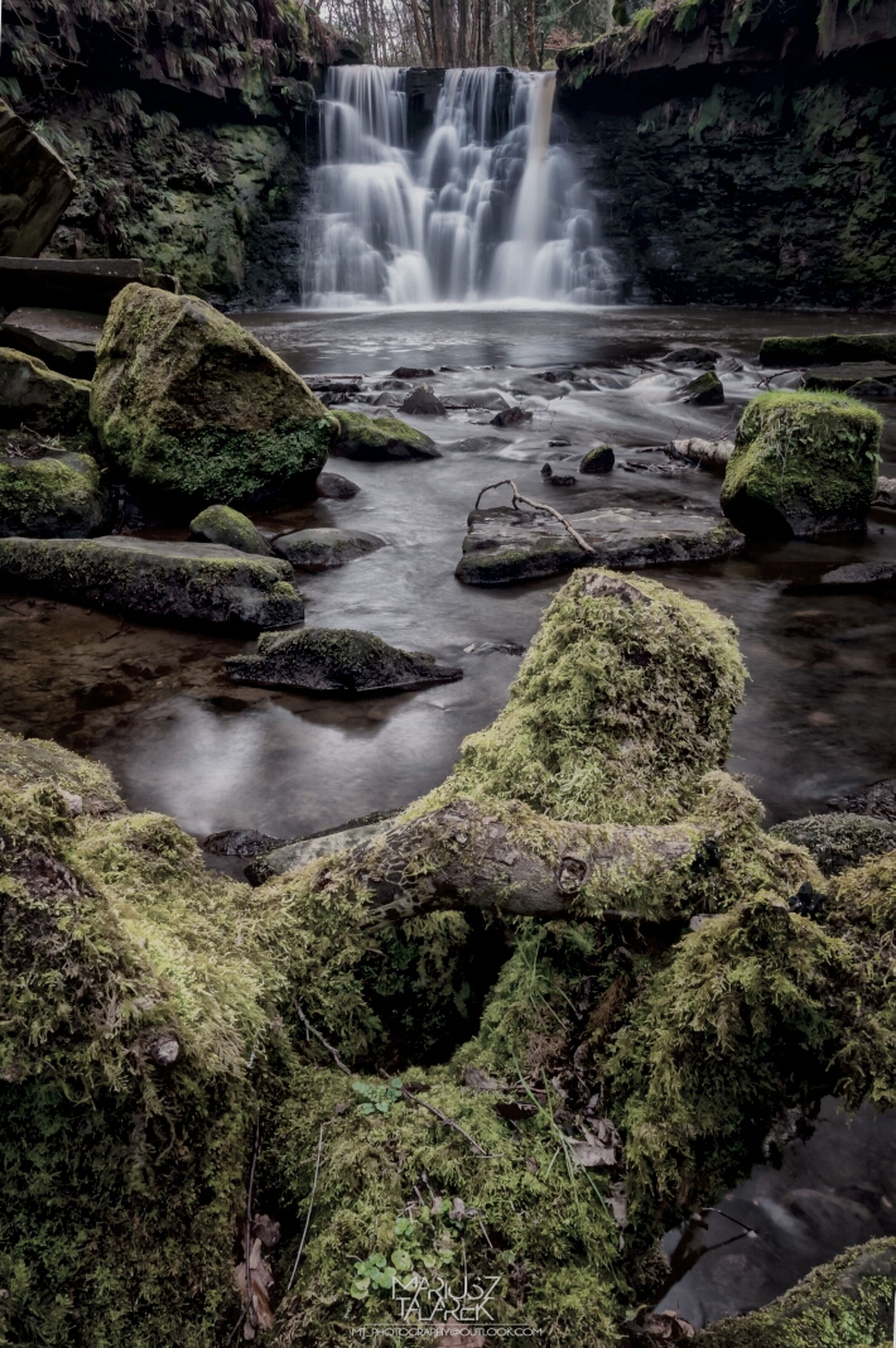 water, waterfall, flowing water, rock - object, motion, long exposure, flowing, beauty in nature, scenics, nature, forest, rock formation, tranquil scene, tranquility, stream, rock, idyllic, moss, river, splashing
