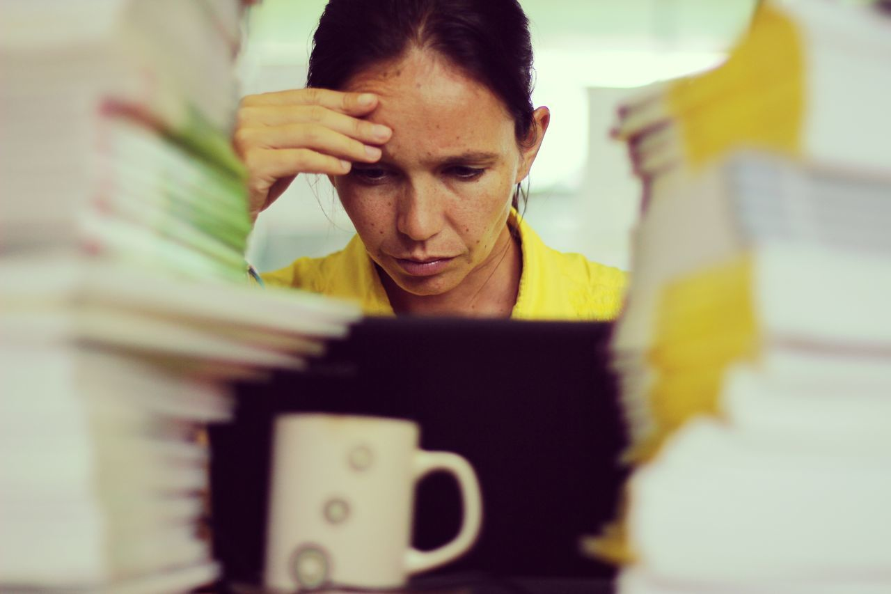 Beautiful stock photos of stress, Book, Business, Businesswoman, Coffee Cup