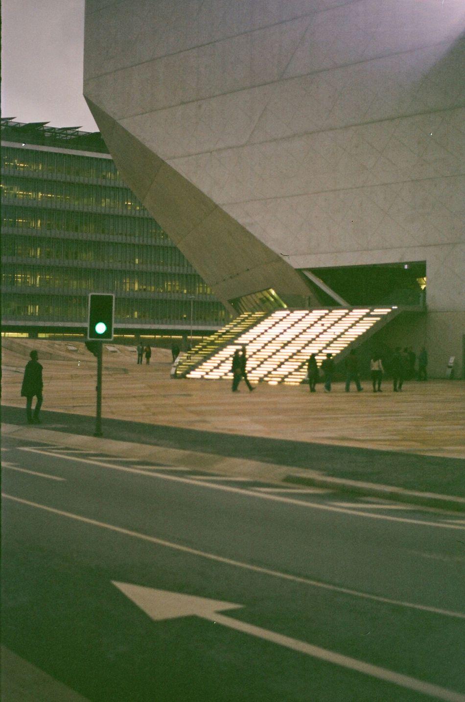 Portugal Porto Architecture Koolhaas Casadamusica Staircase Concrete City