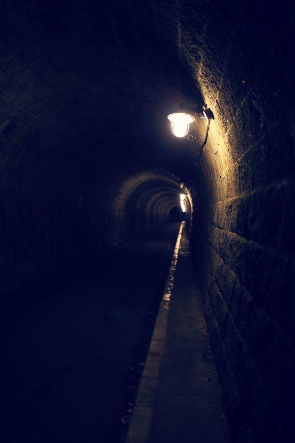 Atami Atami In Japan Tunnel 熱海城に行く途中のトンネル。なんかぼやーっとしててちょっと怖い