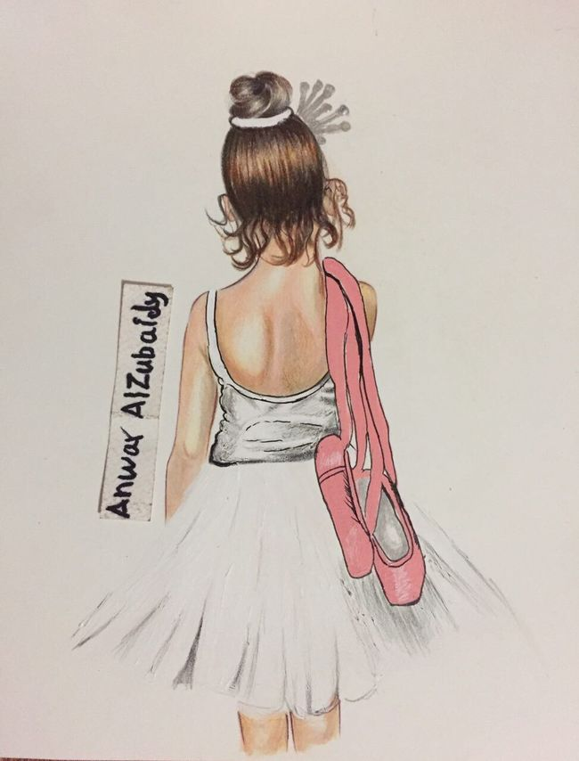 Rear View One Person Real People Hair Bun White Background Day MYArtwork❤ Mydrawing!