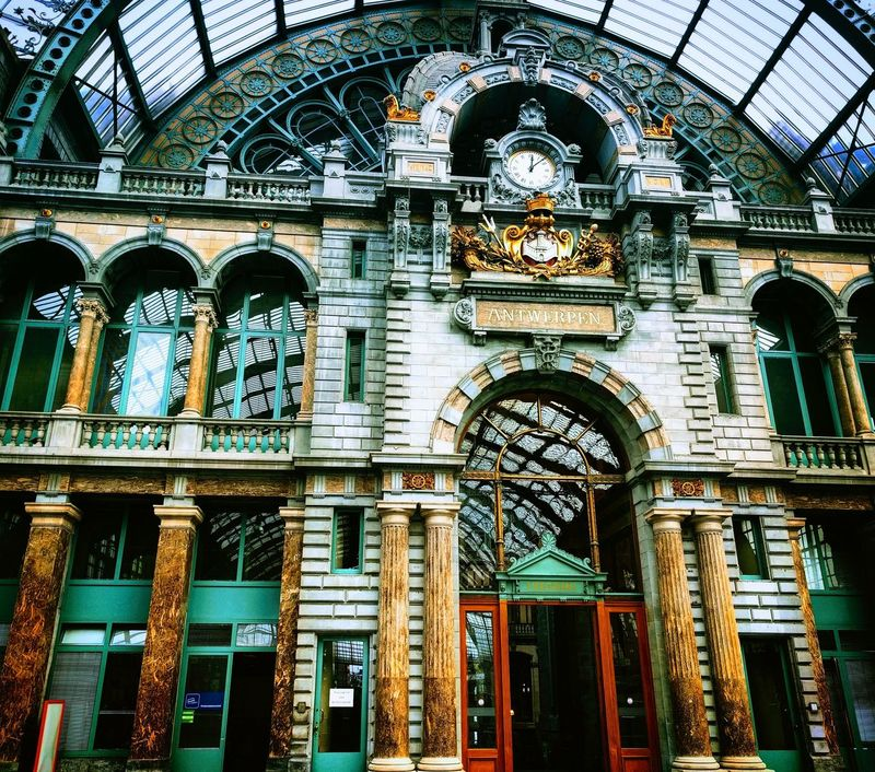 Low Angle View Architecture Day Built Structure Indoors  No People Arch Antwerp Antwerpen Antwerp, Belgium Antwerpen, Belgium Antwerpen Centraal Train Station Travel Travel Photography Travelphotography Antwerp Central Station EyeEmNewHere EyeEmBestPics EyeEm Best Shots The Week On EyeEm