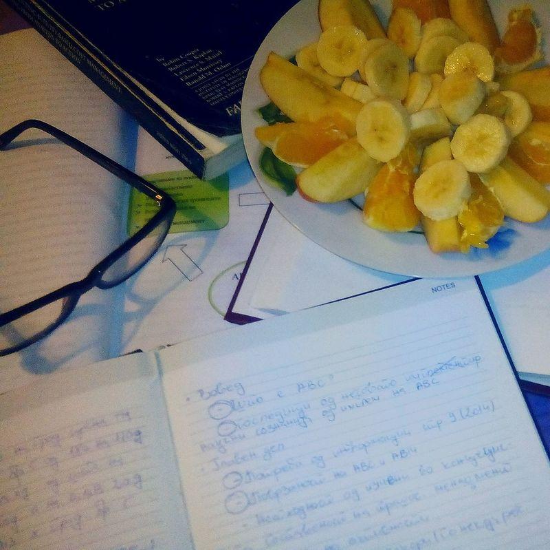 Friut Fruit Salad Banana Orange Apple Books Glasses Styding