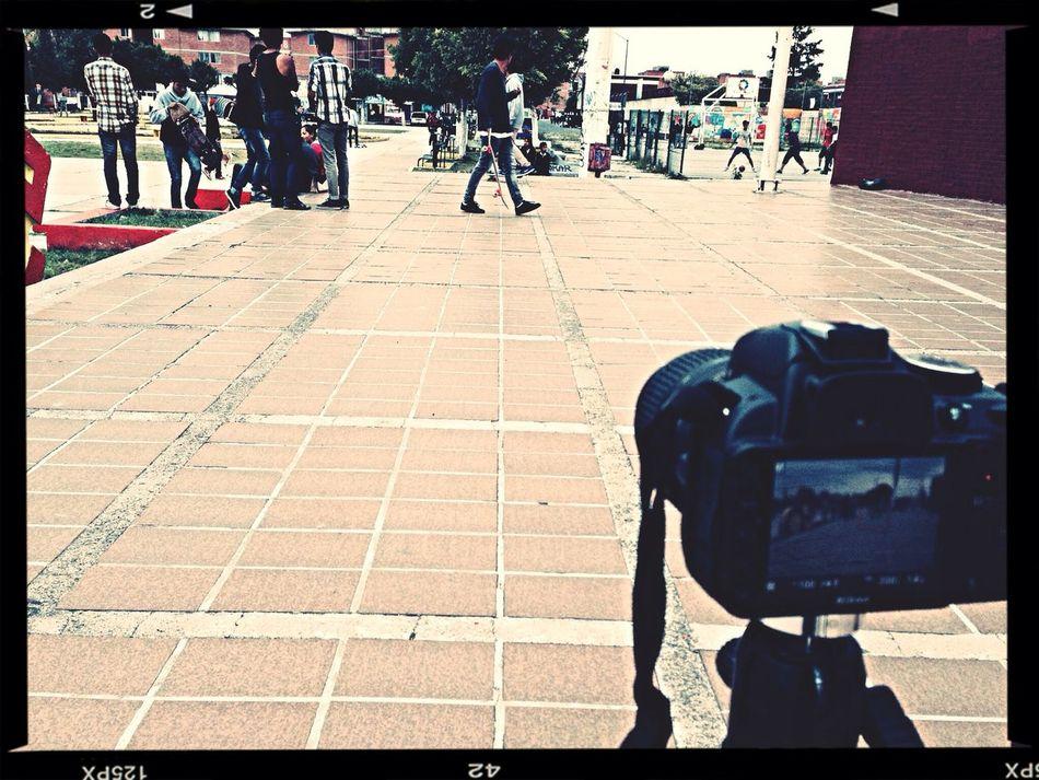 Filming a skateboarding video. Skate Park Skate Nikon Nikon D3100