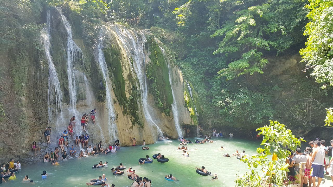 Waterfalls invaded by the crowd. The Essence Of Summer Sun Summer Beattheheat Summertime Waterfalls Under The Sun Philippines People Outdoors at Daranak Falls Tanay,rizal