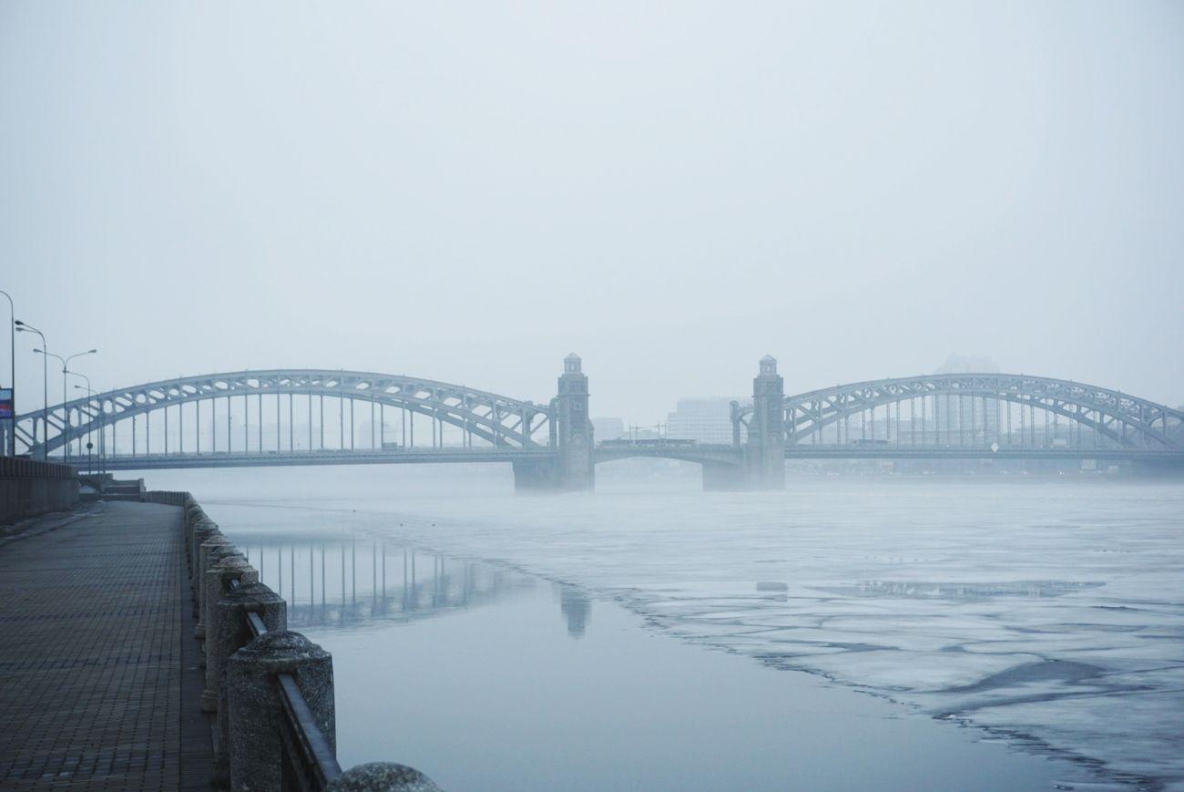 мост Санкт-Петербург туман