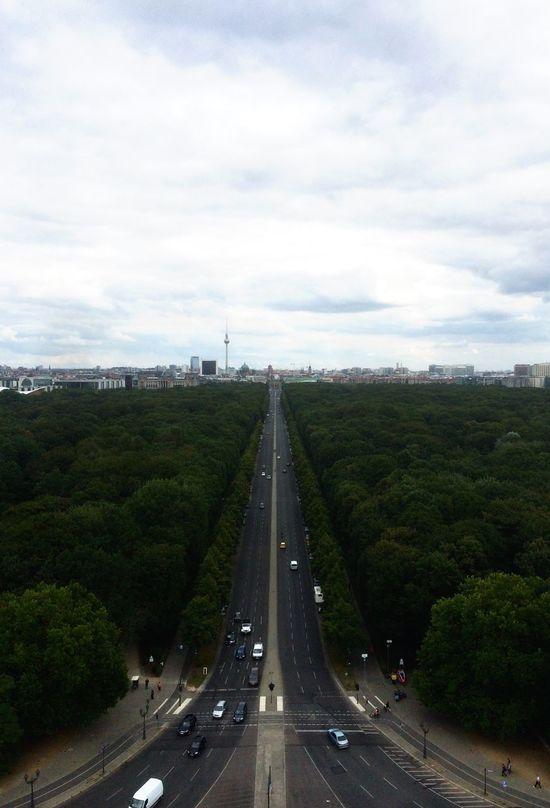 Berlin Siegessäule  Victory Column First Eyeem Photo A Birds Eye View Germany Bln