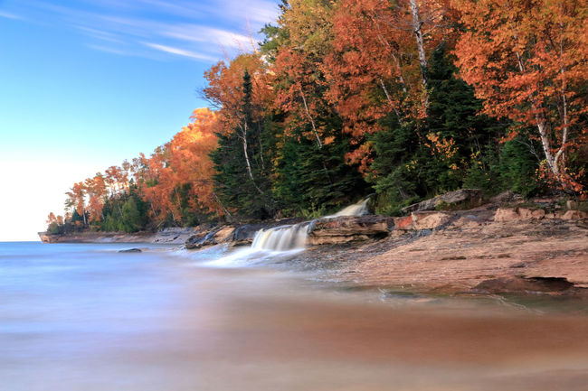 Beauty In Nature Elliot Falls Lake Superior Michigan Waterfalls No People Pictured Rocks National Lakeshore Pure Michigan Tranquility Upper Peninsula Upper Peninsula Of Michigan Waterfall